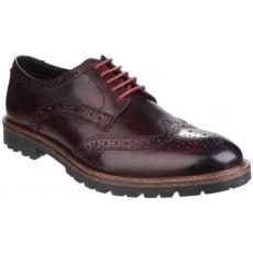 Base London Trench Lace Up Brogue Shoe Bordo Shoes