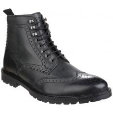 Base London Troop Lace Up Boot Black Shoes