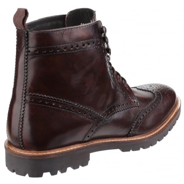 Base London Troop Lace Up Boot Brown