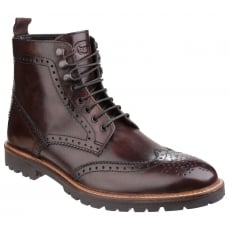 Base London Troop Lace Up Boot Brown Shoes