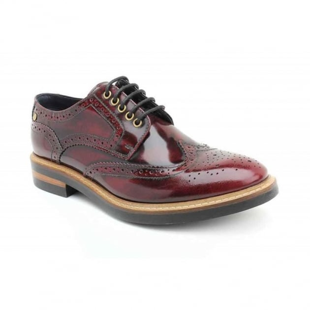 Base London Woburn Hi-Shine Bordo Shoes