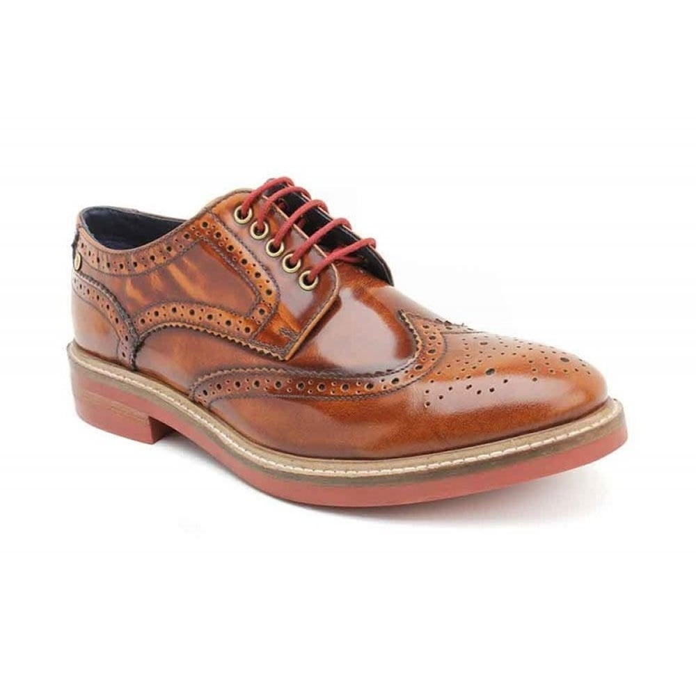 653b57f92944b Base London Woburn Hi-Shine Men's Tan Shoes - Free Returns at Shoes.co.uk