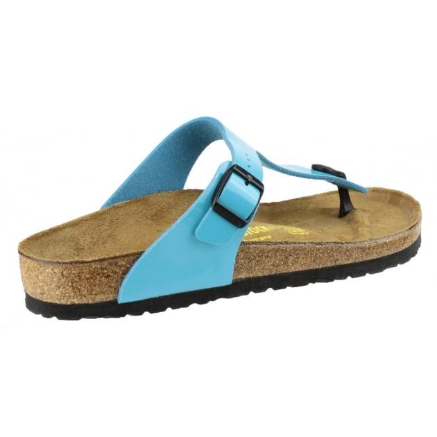 Birkenstock Gizeh Patent Sandal Blue