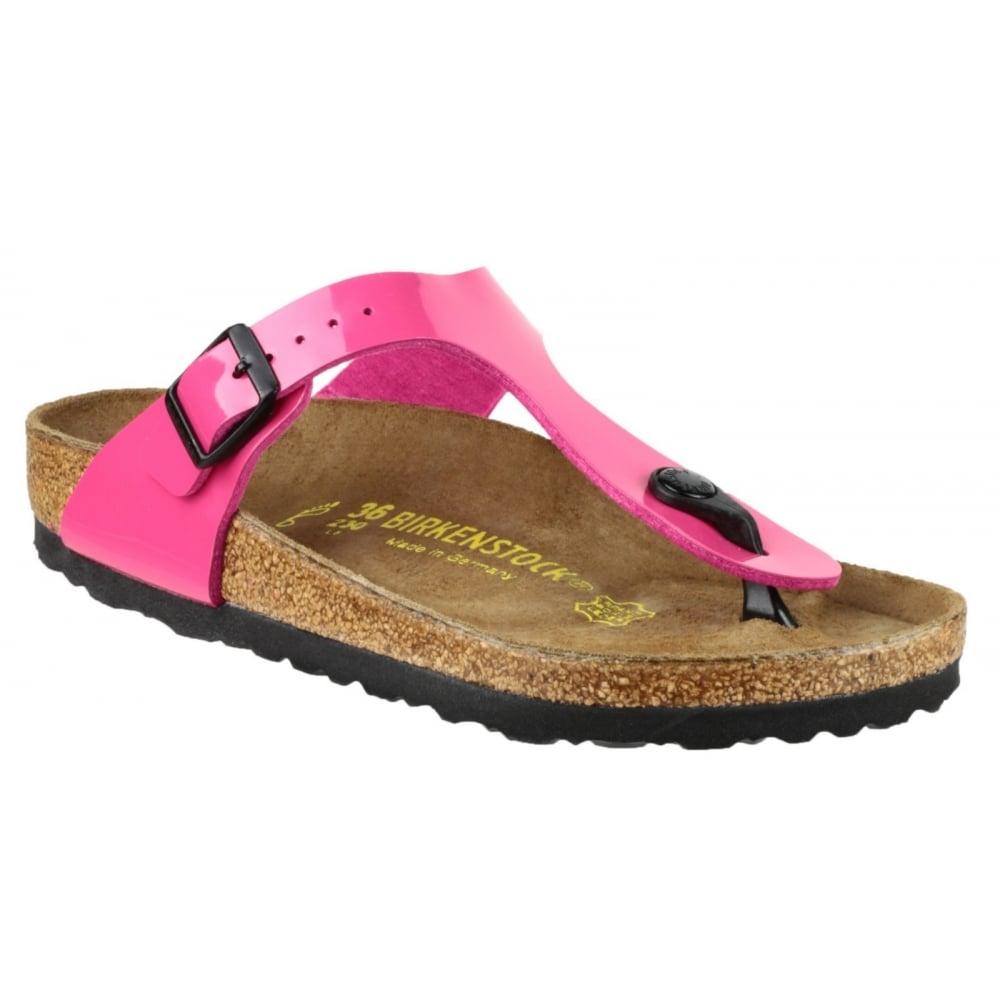 birkenstock gizeh patent sandal women 39 s pink sandals. Black Bedroom Furniture Sets. Home Design Ideas