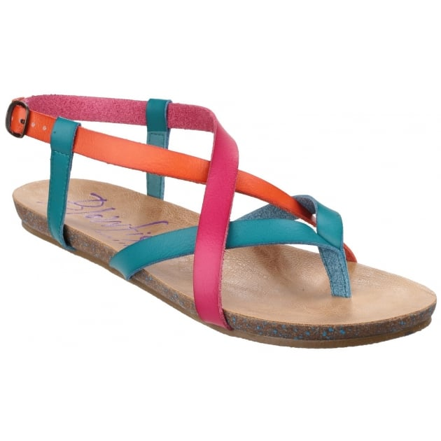 Blowfish Granola Lagoon/Carmine/Orange Sandals