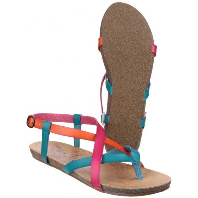 Blowfish Granola Lagoon/Carmine/Orange Sandals