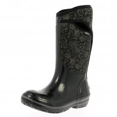 Bogs Plimsoll Quilted Floral Tall 71542 Black Wellies