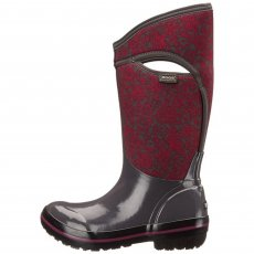 Bogs Plimsoll Quilted Floral Tall 71542 Dark Grey Multi Wellies