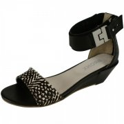 Bronx York 84221 Black Sandals