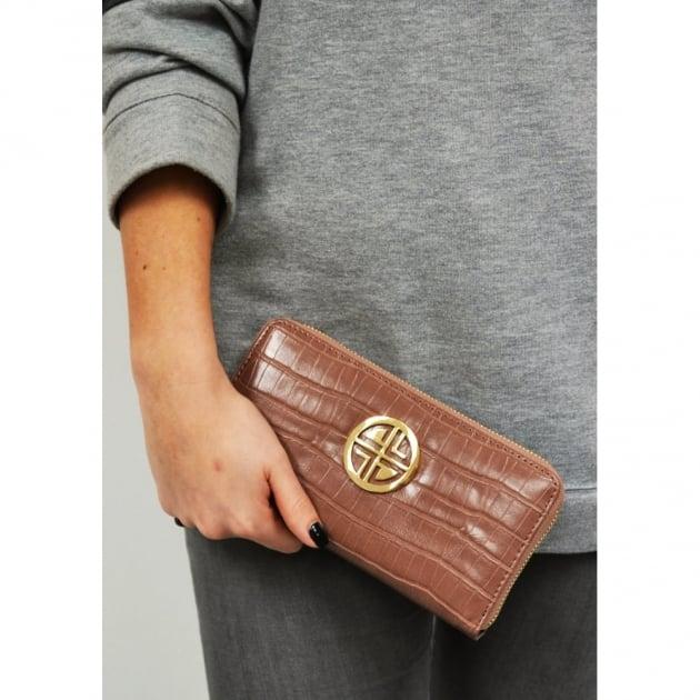 Carlton London Amandier Clb0030 Chocolate Purse Chocolate Bags