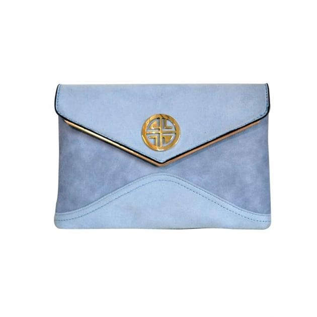 Carlton London Ash Clb0032 Blue Clutch Blue Bags