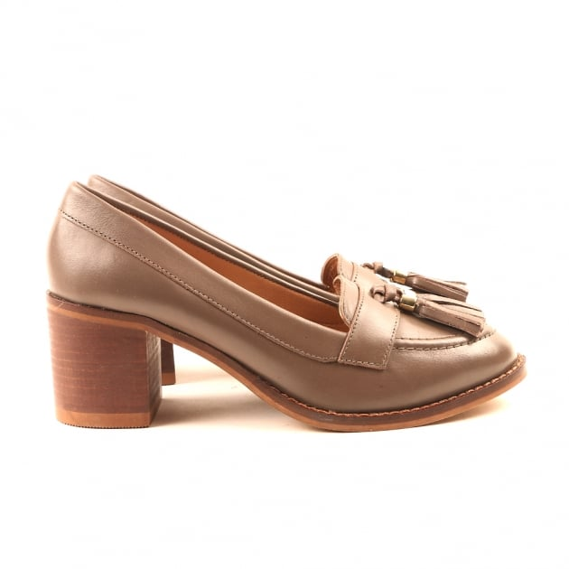Carlton London Cai Taupe Heeled Loafers