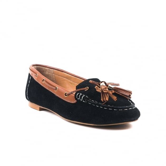Carlton London Caitlin Black Loafers