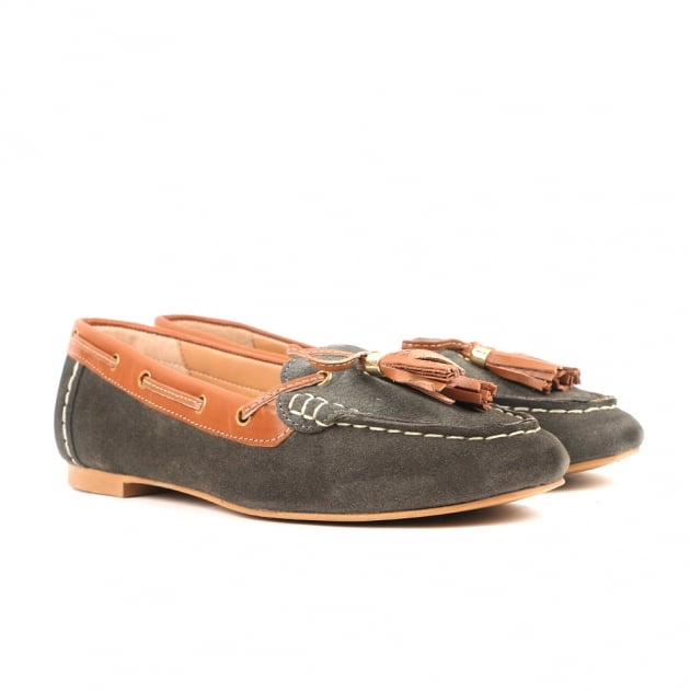 Carlton London Caitlin Dark Grey Loafers