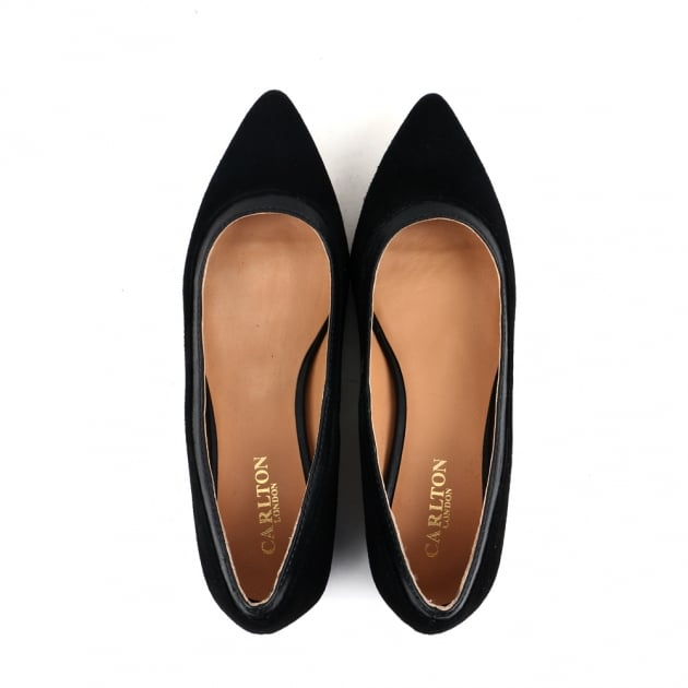 Cara Black Court Shoes