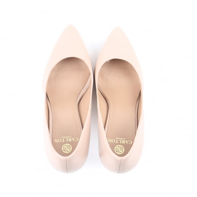 Carlton London Caramel Nude Court Shoes