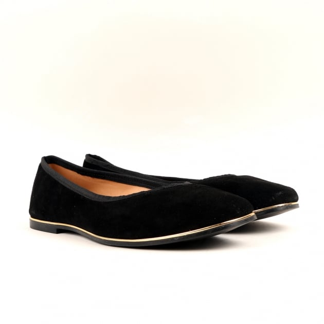 Carlton London Cary Black Ballerina Shoes