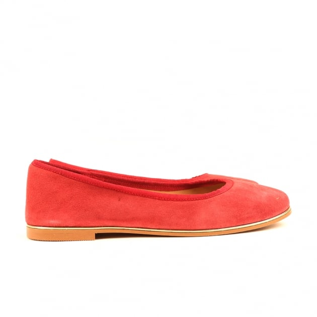 Cary Bordeaux Suede Ballerina Shoes