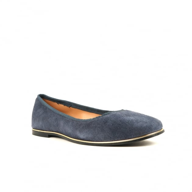 Carlton London Cary Navy Ballerina Shoes