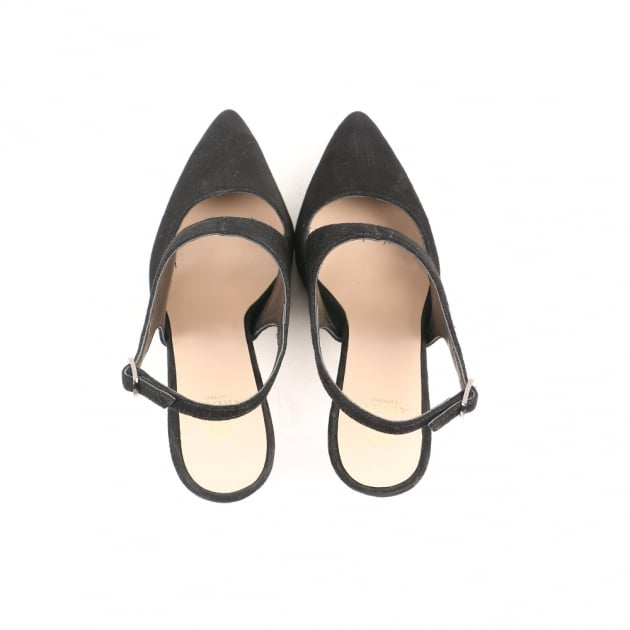 Carlton London Casy Black Sandals