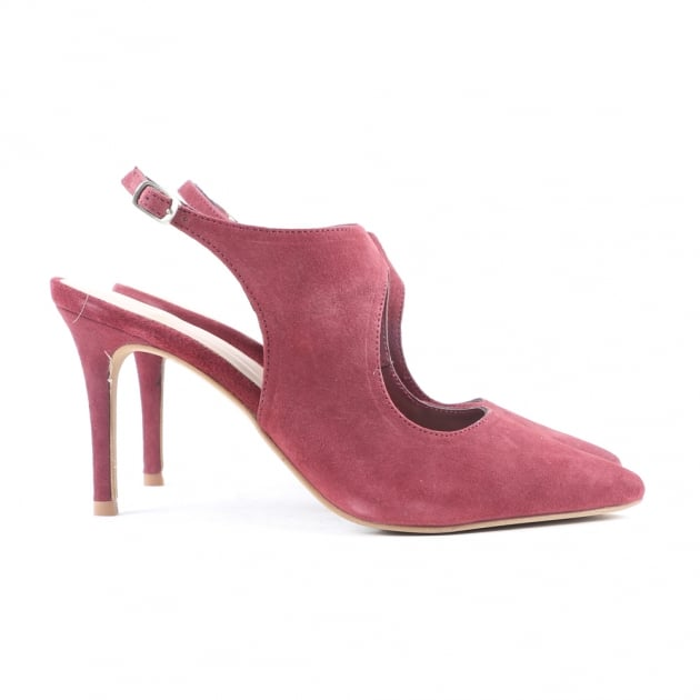 Carlton London Casy Burgundy Sandals