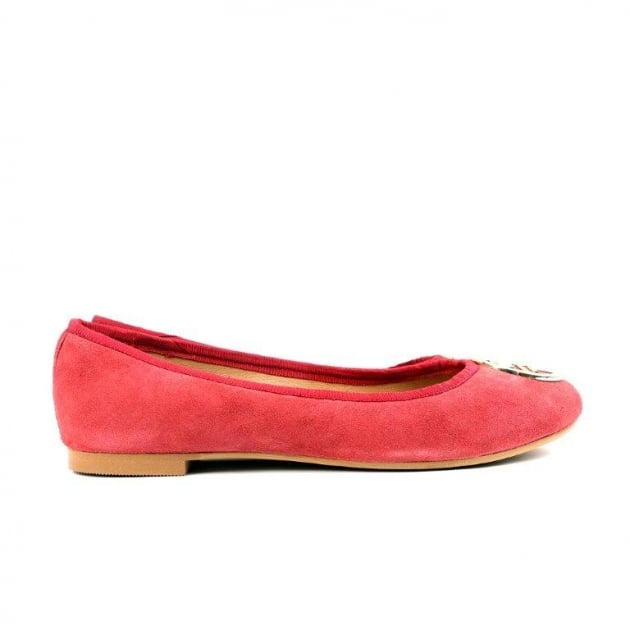 Catrin Bordeaux Suede Ballerina Shoes