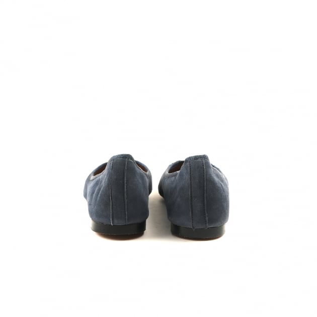 Catrin Navy Suede Ballerina Shoes