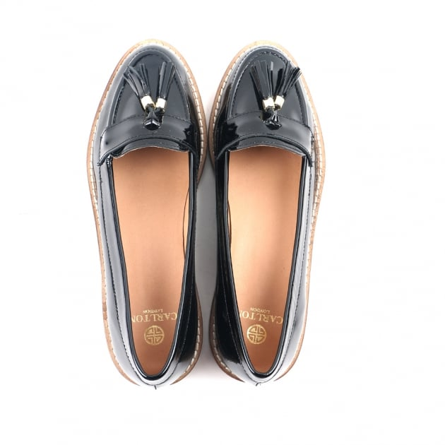 Chanel Black Patent Loafers