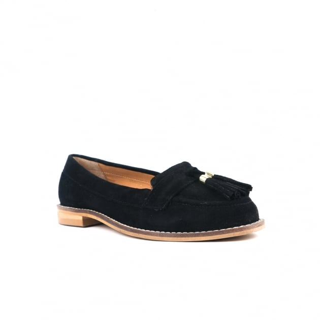Chanel Black Suede Loafers