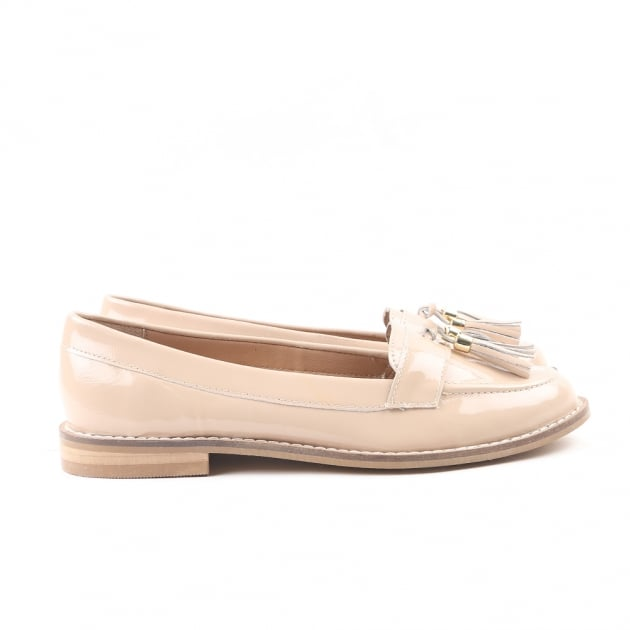 Carlton London Chanel Nude Patent Loafers