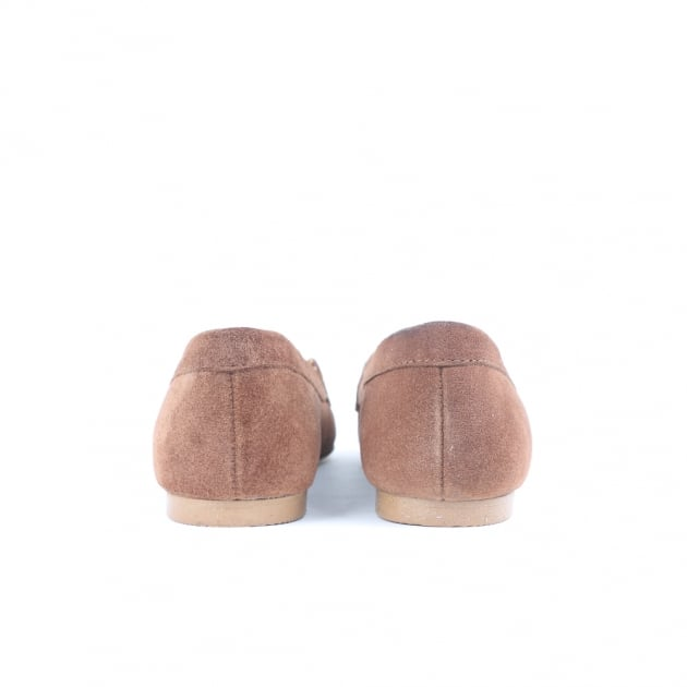 Carlton London Charis Tan Suede Loafers