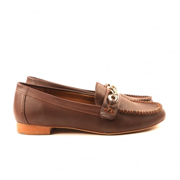 Carlton London Charli Brown Burnished Loafers