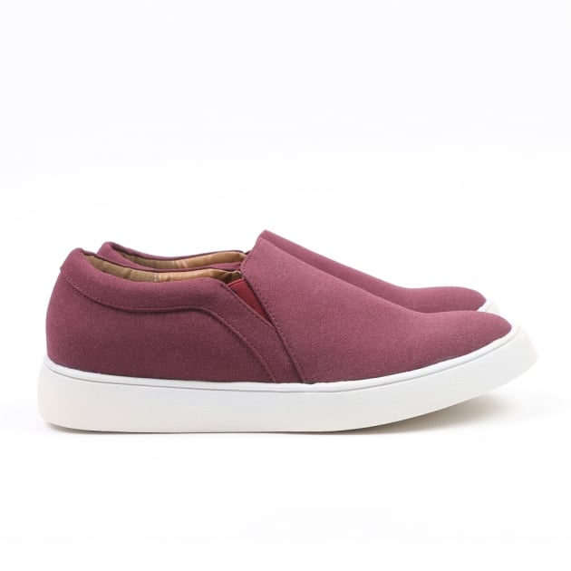 Carlton London Nachi Burgundy Trainers