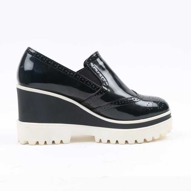 Carlton London Naivya Black Shoes