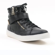 Carlton London Nandi Black High Top Trainers
