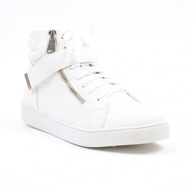 Carlton London Nandi White High Top Trainers