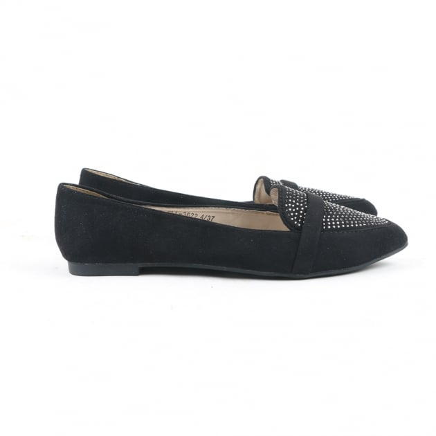 Carlton London Nanim Black Loafers