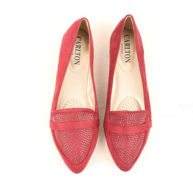 Carlton London Nanim Red Loafers