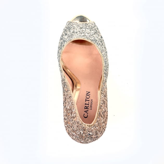 Carlton London Nayna Gold Court Shoes