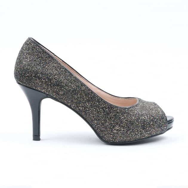Nayna Pewter Court Shoes