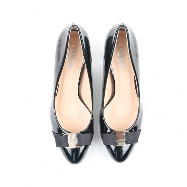 Carlton London Neema Black Court Shoes