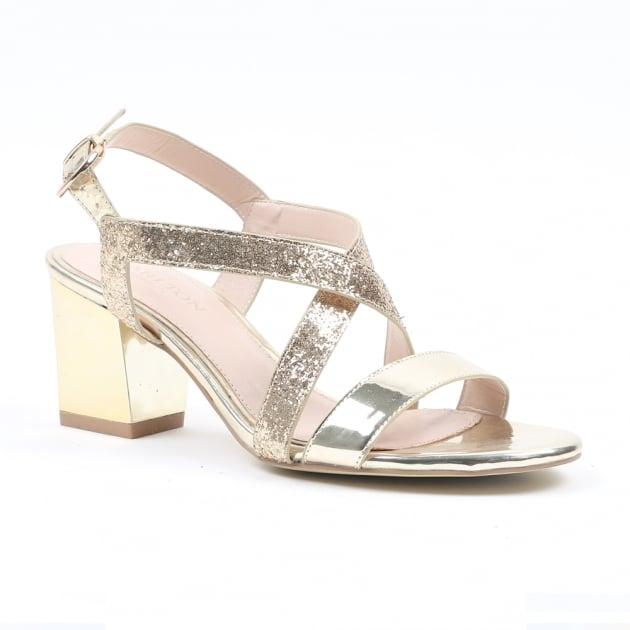 Carlton London Neenu Gold Sandals