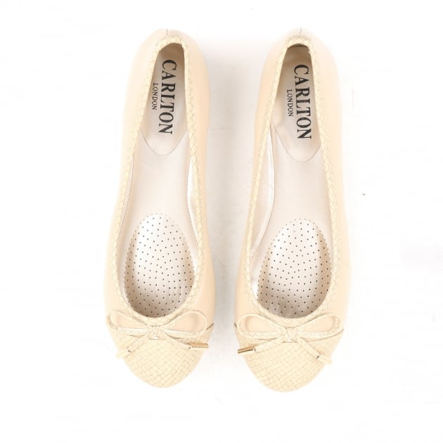 Carlton London Neerja Beige Ballerina Shoes