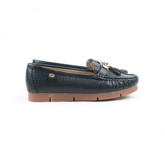 Carlton London Nina Black Loafers