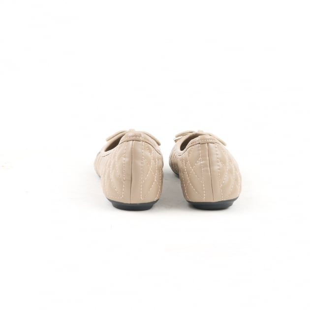 Noor Beige Ballerina Shoes