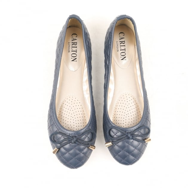 Carlton London Noor Blue Ballerina Shoes