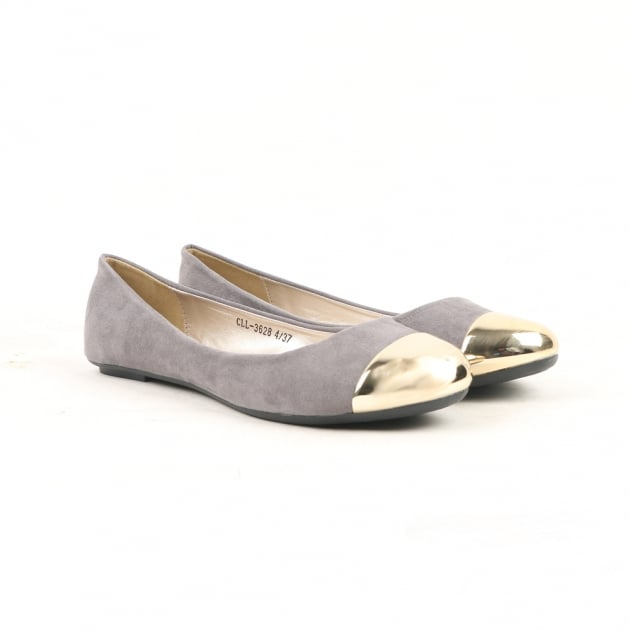 Norjah Grey Ballerina Shoes