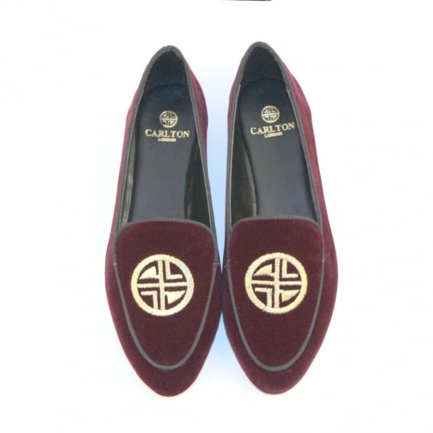 Carlton London Pari CL7449 Burgundy Shoes