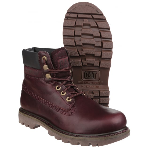 Caterpillar Colorado Lace Up Burgundy Boots