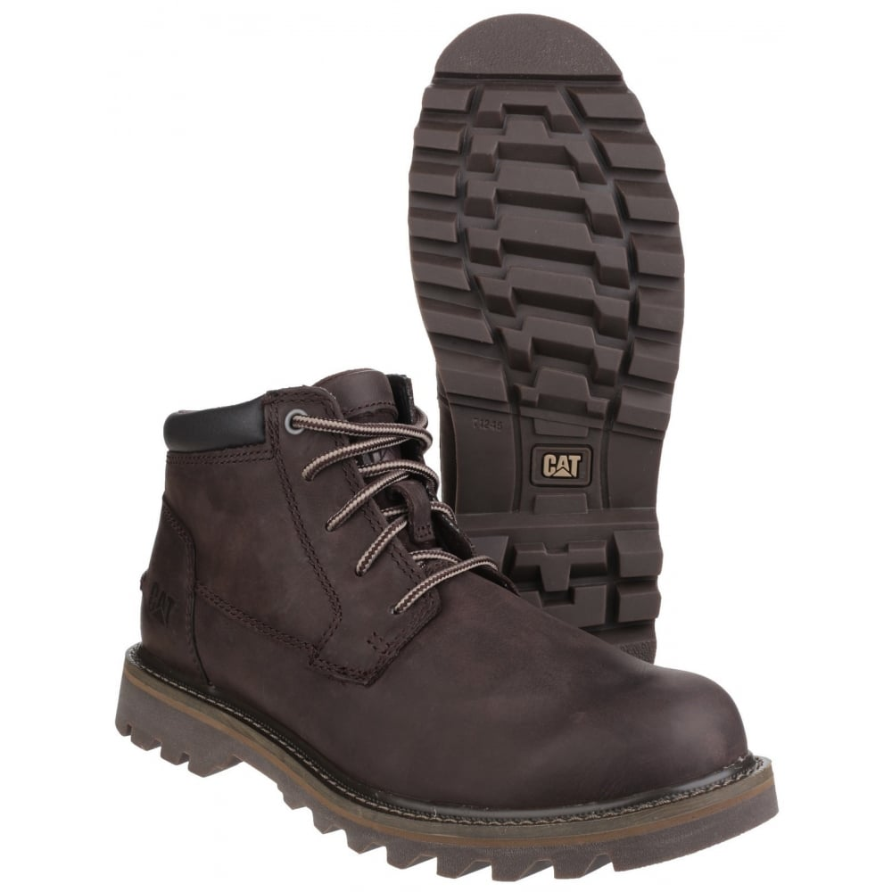 2469f21a870e29 Caterpillar Doubleday Lace Up Dark Brown Boots - Shoes.co.uk